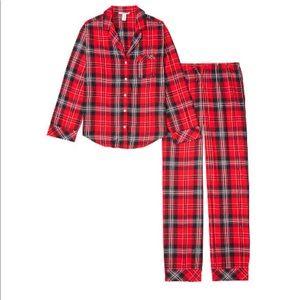 Victoria's Secret flannel pajama set. Size Sm